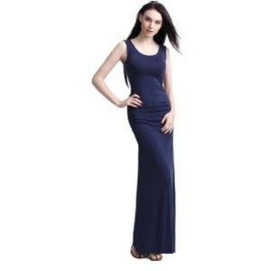 Blue jersey maxi dress sz S